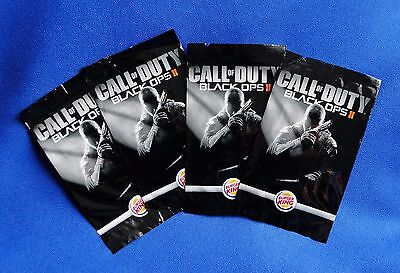 2013 Burger King Call of Duty Black Ops 2 Iron On Patches Complete Set of 4 New