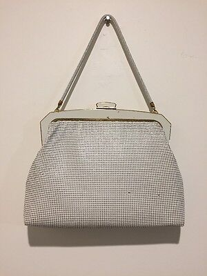 Vintage Oroton White Glomesh Bag With Original Box. 60s-70s. Made In Germany.