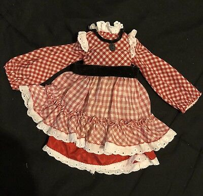 "Vintage Ideal Crissy Outfit For Velvet ""CHECKER CHECK "" Great Condition"