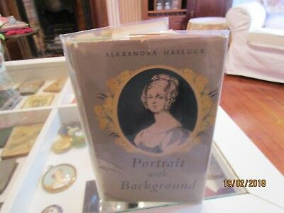 PORTRAIT WITH BACKGROUND. by ALEXANDRA HASLUCK. SIGNED BY AUTHOR.