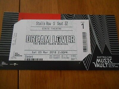 concert tickets , dream lover 4 tickets in row s stalls 25-22 3rd of march