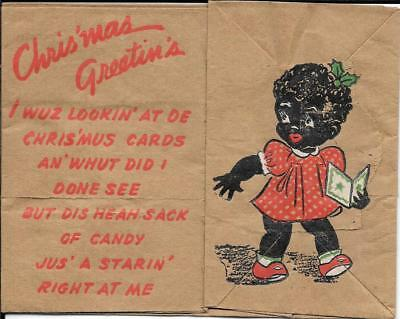 "African-American (racist) ""joke"" Christmas Card on a BAG."