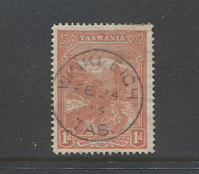 TASMANIA  1903: nice strike WINKLEIGH Type 1 cds on a 1d Pictorial - rated S(5)