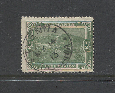 TASMANIA 1913: full clear strike of the TYENNA Type 1 cds on a ½d Pictorial