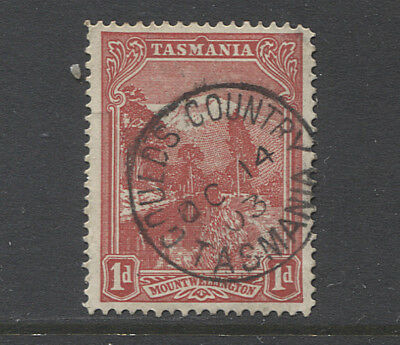 TASMANIA 1903: excellent strike of GOULDS COUNTRY Type 1 cds on a 1d Pictorial