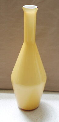 Victorian Cased Glass Vase Yellow