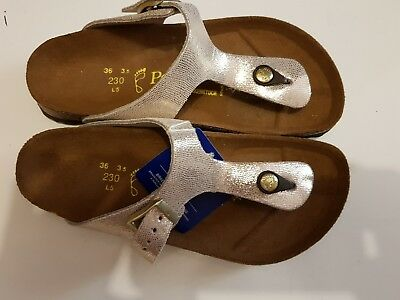 Reduced - Birkenstock -  Gizeh - Silver Glitter Leather