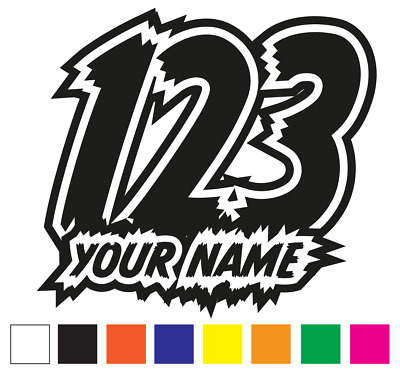 X3 custom race numbers and name vinyl stickers decals motorbike motorcross quad