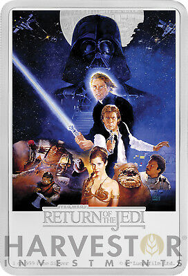 2017 Star Wars The Return Of The Jedi Poster Coin - 1 Oz. Silver Coin - Ogp Coa