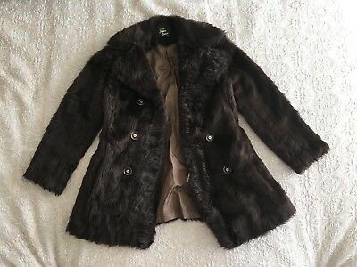 Melbourne Vintage Brown Faux Fur Coat/Jacket - Size 10