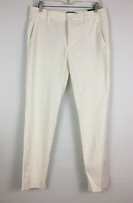 descuento mejor valorado nueva alta calidad outlet(mk) NEW W TAG Zara Woman Chino Fit Sz 6 White/Ivory Office Work Casual Pants B36
