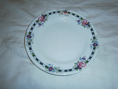 Vintage Porcelain Butter Or Side Plate - Unmarked - 16 Cms Across