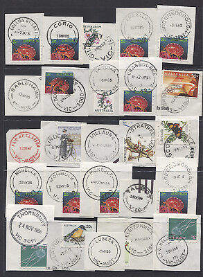 VICTORIA  1980s: selection of 25 different datestamps - ex John Webster
