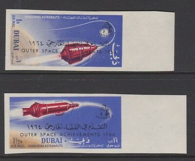 DUBAI 1964 Air Astronauts sg65-66 MINT imperf