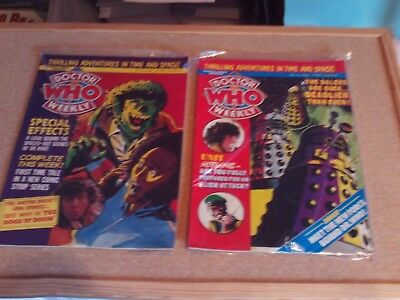 2doctor who comics from 7thand 14.may 1980 by marvel clean and in good con.lot1
