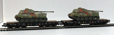 LILIPUT H0 – 230145 – SET 2 PLATFORMS SSyms with LOAD WAGONS armed – DR Ep. II