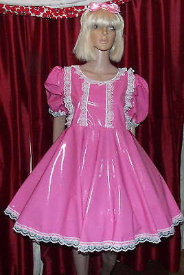 Unisex longer style adult baby pvc dress ,Fancy dress sissy 4 row lolita cosplay