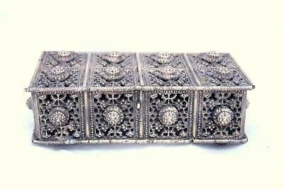 Antique Turkish Ottoman Metal Jewelry Box 19C Master Made