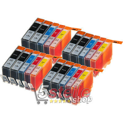 Kit 20 Cartucce Compatibili Hp 364 Xl Con Chip Per Officejet 4620 Nero + Colori