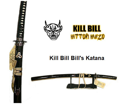Kill Bill-Bill's Demon Katana Sword by Hattori Hanzo with stand
