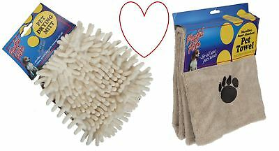 Pet Wash Towel Dog Drying Mitt Microfibre Quick Dry Puppy Cat Absorbent Cleaning