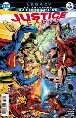 JUSTICE LEAGUE ISSUE 27 - FIRST 1st PRINT BRYAN HITCH COVER - DC COMICS REBIRTH