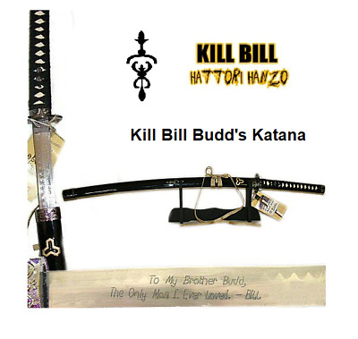 Kill Bill-Budd's  Katana Sword by Hattori Hanzo with stand
