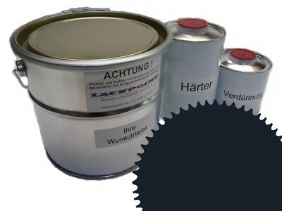 1,75 Liter Set 2K Car Paint RAL 7021 GREY MATT of the Military Camouflage Color