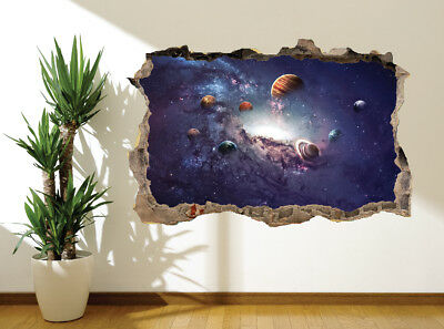 Stunning universe solar system stars space wall sticker wall mural (50430104)
