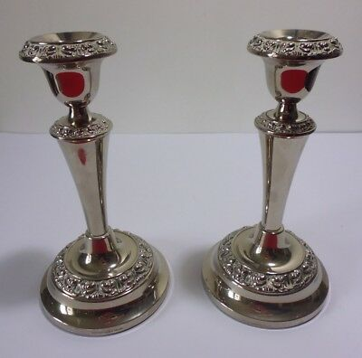 Pair of Vintage Silver Plated Candlesticks