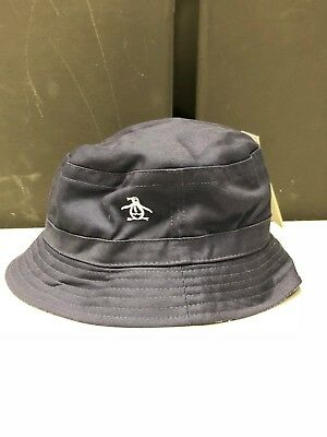 ORIGINAL PENGUIN BUCKET Hat Reversible Sapphire Blue - £15.00 ... 0afae103930