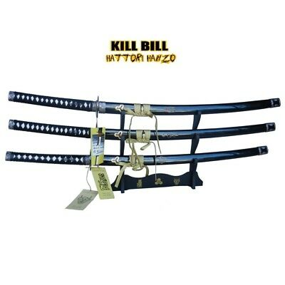 Kill Bill-Bill's,Bride's and Budd' Katana Swords set by Hattori Hanzo with stand