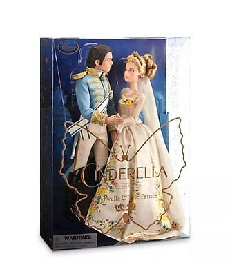 AUTHENTIC DISNEY Cinderella and The Prince Disney Film Collection Doll Set - NIB