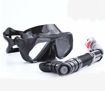 D21 Black Adult Use Anti Fog Snorkeling Diving Snorkel Breather Pipe M118 A