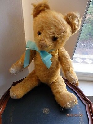 Vintage Antique English Alpha Farnell 41cm Teddy Bear in pre loved condition