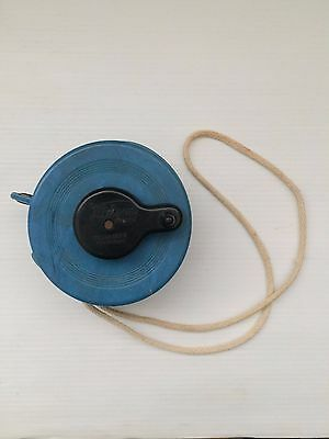 1940s Dalson Australian vintage blue bakelite retractable travel clothes line