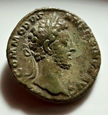 Commodus AS ** PERFECT Large Roman Bronze Coin ** RARE !!!