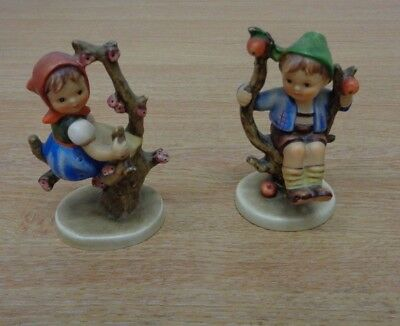 Hummel Figure Figurine x2 TMK-3 HUM 141 142 Apple Tree Girl Boy Bundle Job Lot