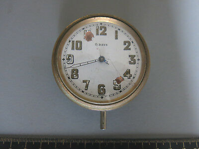Car Clock 1920s 8 Day Swiss Made Glass Crystal Travel Timepiece Spares or Repair