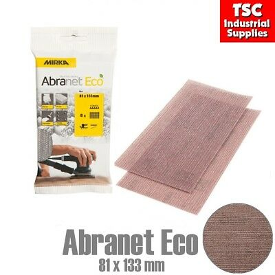 Mirka Abranet Eco Mesh Sanding Pad 81 x 133mm Strips in Grits P80, P120, P180