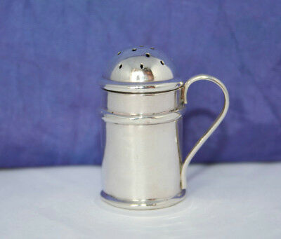 ANTIQUE SOLID SILVER INDIVIDUAL PEPPER POT by BRITTON,GOULD & Co~BIRMINGHAM 1900