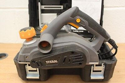 Titan Electric 900W Planer - mains powered - in Sturdy Case with instructions