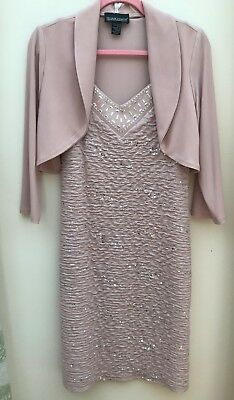 Mother of the Bride: Frank Lyman stunning nude dress and jacket size 12 BNWOT