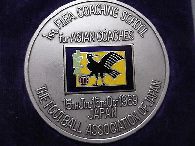 FIFA Coaching school for Asian Coaches  Football official Medal Japan 1969  Rare