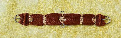 Unicorn Woman's Hand Woven Western Girth Red Brown/Br Stays 1/9 Scale Breyer