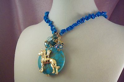 CHINESE CRESTED- ag2-  SALE 15% OFF- NECKLACE - Jewelry - USArtisan - FREE SHIP