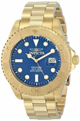 Invicta Mens Pro Diver Analog Display Swiss Quartz Gold-Plated Watch