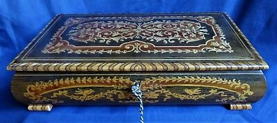 Vintage Sorrento Ware Inlaid Musical Jewellery Box