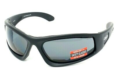 New Global Vision UV400 Wide Fitting Motorcycle Sunglasses/Biker Glasses + Pouch