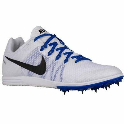 best service 529ec 089f5 New Mens Nike Zoom Rival D9 Track Spikes Style 806559-100 WhiteBlue 182M